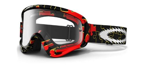 Oakley Oakley MX XS O Frame Goggles with Clear Lens Yellow Red Puzzled