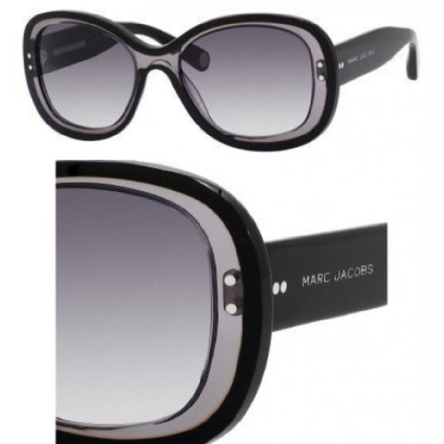 Marc Jacobs Marc Jacobs MJ431/S Sunglasses-035N Black Gray/Black (HD Gray Grad Lens)-55mm