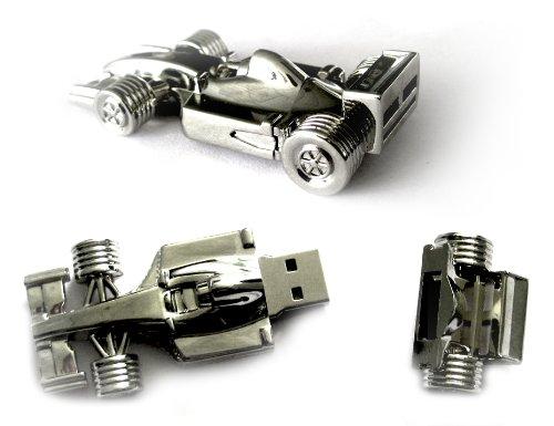 4GB Novelty Silver Racing Car USB Flash Drive
