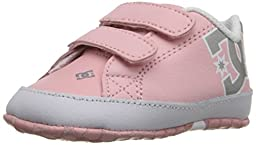 DC Court Graffik Lowtop Skate Shoe (Infant/Toddler), Light Pink, 2 M US Infant