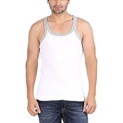 Zippy Classic WHITE Sleeveless Men's Vest-ZI-CLASSICVest-D027-WH-XL