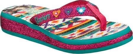 Skechers Kids Baby Girl'S Sunshines - Summerglow Lights 10270N (Toddler) Hot Pink/Aqua Sandal 10 Toddler M