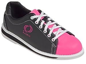 youth black pink bowling shoe bowling
