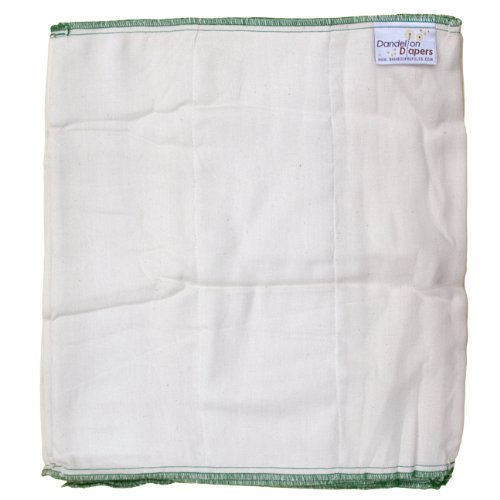 Dandelion Diapers Organic Cotton Blend Prefolds 3 Pack - Size 3
