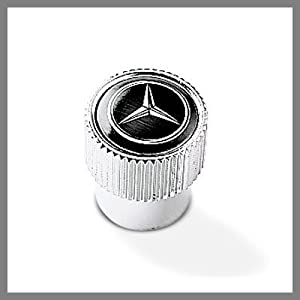 41uSUWQApjL. SL500 AA300  Mercedes Benz Logo Black Tire Stem Valve Caps