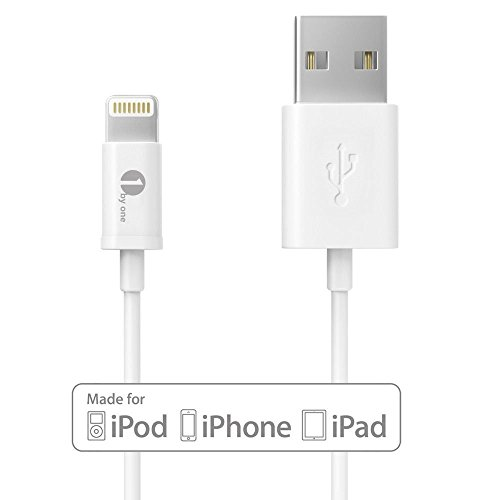 [Apple MFI Certified] 1byone® Lightning to USB Cable three.28feet (1M) for iPhone 6 6 Plus, iPhone five/5s/5c, iPad with Retina show, iPad mini, iPad Air, iPod nano seventh Gen and iPod contact fifth Era-1-Yr Restricted Guaranty