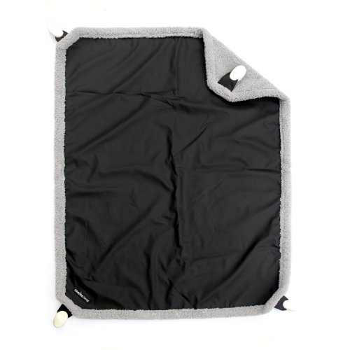 Triboro CT71450 Soothe time Clip On Blanket With Weather shield - Black And Gray - 1