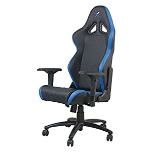 Ferrino Line Blue on Black Diamond Patterned Gaming and Lifestyle Chair by RapidX - Not Machine Specific