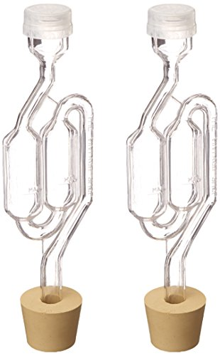 Twin Bubble Airlock and Carboy Bung (Pack of 2) (Wine Making compare prices)