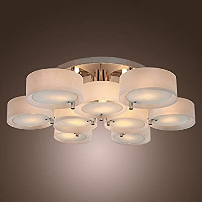 Modern Round Flush Mount Chandelier Lighting Ceiling Fixture Pendant 9 Lamps US ;P#O455K5/U 7RK-B248782