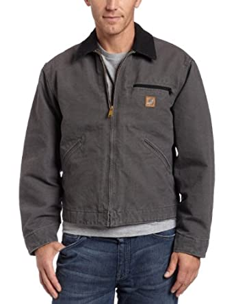 Carhartt Men's  Sandstone Detroit Jacket, Gravel, Small