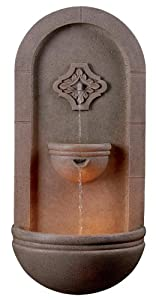 Kenroy Home 50025COQN Galway Wall Fountain, Coquina Finish