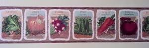 Seed Packet Gardening Wallpaper Border: Pattern UL105014