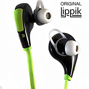 Workout Earbuds by LIPPIK Wireless Stereo Earbuds In-Ear Noise Cancelling Bluetooth Headphones for Sport Running and Exercise Earphones Headsets W/Microphone for iPhone 6 6Plus 5 5c 5s 4 and Android. Our Flat Wire Does Not Tangle!