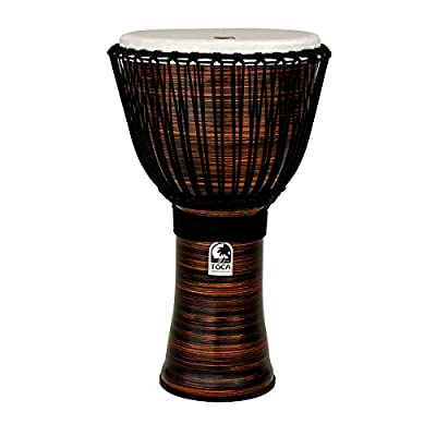 Toca Freestyle II Rope Tuned 14-Inch Djembe with Bag - Copper Spun Finish