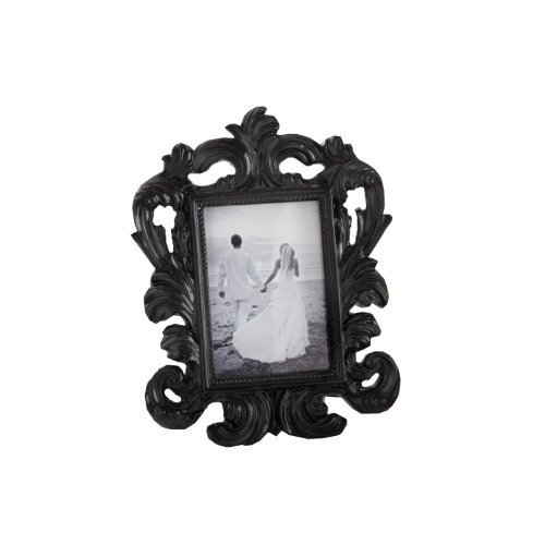 Black Baroque Elegant Place Card Holder/Photo Frame (Antique Picture Frames compare prices)