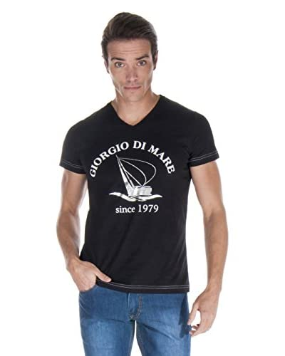 Giorgio di Mare Camiseta Manga Corta Negro