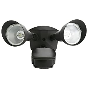 Click to buy LED Outdoor Lighting: Designers Edge Twin Head Super Bright LED Motion Activated Floodlight from Amazon!