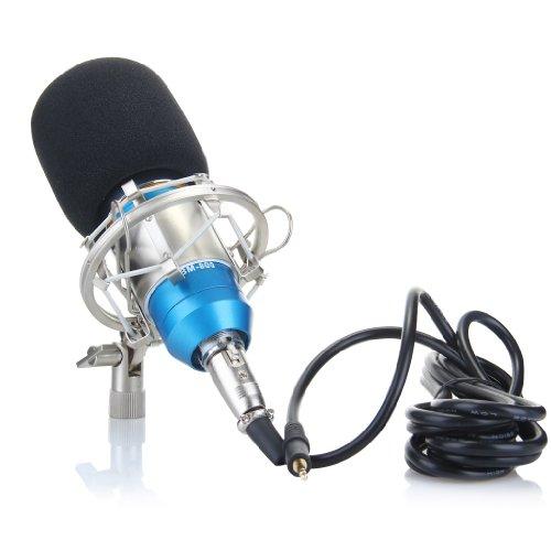 [4 Pcs Audio Professional Condenser Microphone Mic Studio Sound Recording w Shock Mount Home Microphone Studio] (Diy Youtube Halloween Costume)