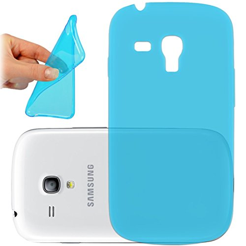 OneFlow PREMIUM - AERO-CASE aus transparentem Silikon (Ultra Slim) - für Samsung Galaxy Trend / Trend Plus (GT-S7560 / GT-S7580)) - TÜRKIS