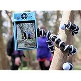 JOBY Gorillapod Flexible Tripod (Black/Charcoal) and  Bonus Universal Smartphone Tripod Mount Adapter (Color: Charcoal)
