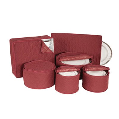 Quilted China Keepers 6pc. Starter Set -Crimson (Dish Storage Covers compare prices)