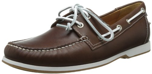 2014年新款,ECCO爱步 Ellery Boat 男士真皮船鞋