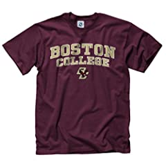 Buy Boston College Eagles Arch and Logo Short Sleeve T-shirt by Unknown