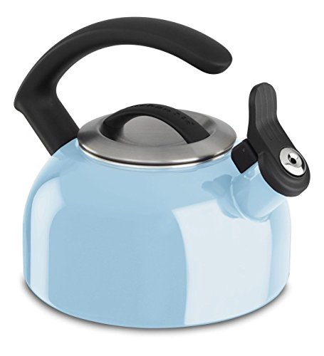 Kitchenaid 1.5-quart Remv Lid Tea Kettle Whistle /C Handle Kten15aneu Cameo Blue