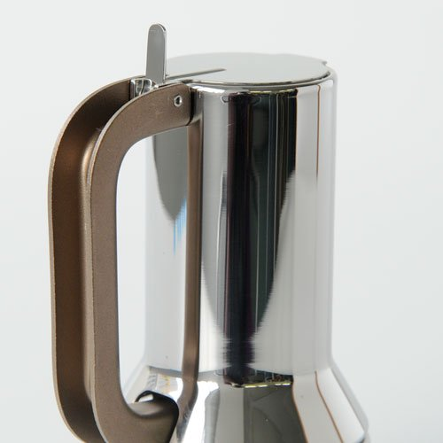 Alessi 9090/1 Stove Top Espresso 1 Cup Coffee Maker in 18/10 Stainless Steel Mirror Polished, Silver