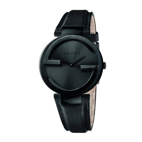 Gucci Women's YA133302 Interlocking Black Leather