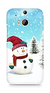 Amez designer printed 3d premium high quality back case cover for HTC One M8 (Snowman)