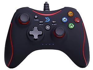 ZD-N振動機能搭載USB接続Xbox 360系コントローラー有線ゲームパッドジョイスティックPC(Windows XP/7/8/8.1/10) / Android / PS3に対応 Xbox 360非対応