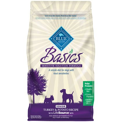 Blue Buffalo Basics Senior Turkey & Potato Recipe - 4 lb bag