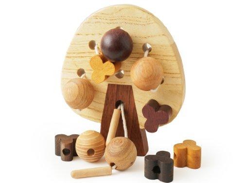 木のおもちゃSoopsori(スプソリ) 木製ビーズでひも通し遊び