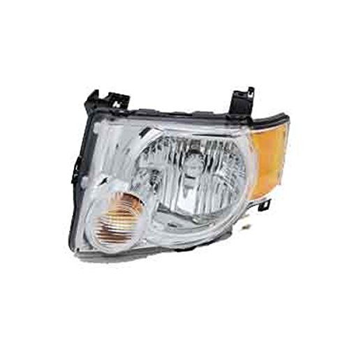 Aftermarket Replacement Headlight Headlamp CHROME Bezel Assembly Clear Lens Front Driver Side Left LH (2008 Escape Headlight Assembly compare prices)