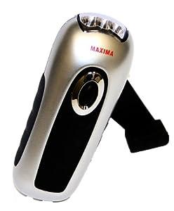 Maxima dynamo rechargeable LED compact flashlight