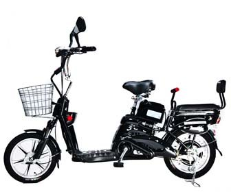 Motor Electric Bicycle x 2Adult Seats+pedal+battery 20 Mile (Model: Class2) Black