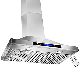 "GOLDEN VANTAGE 30"" Wall Mount Stainless Steel Range Hood With Remote GVW30-B02"