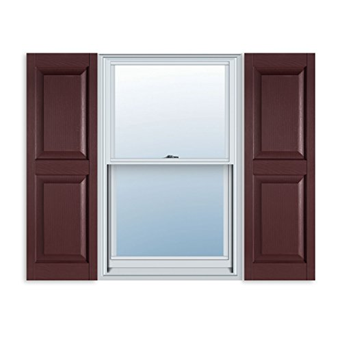 15 inch x 39 inch standard raised panel exterior vinyl for 15 inch window blinds