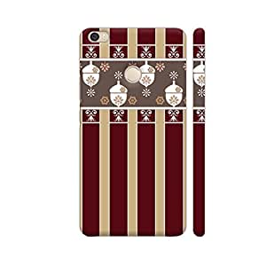 Colorpur Oak Red Beige Lined Decorative Design Designer Mobile Phone Case Back Cover For Xiaomi Mi Max | Artist: Looly Elzayat