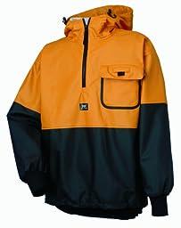 Helly Hansen Workwear Roan Fishing Guide Anorak Jacket, Ochre/Charcoal, 3XL