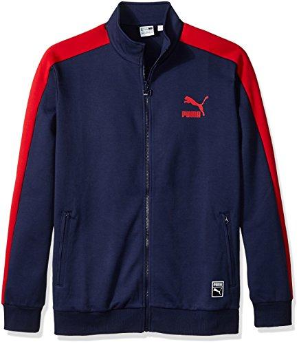 PUMA Men's T7 Track Jacket, Peacoat, XX-Large