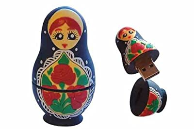 Russian Doll 4GB USB Flash Memory Drive BLACK from EASYWORLD