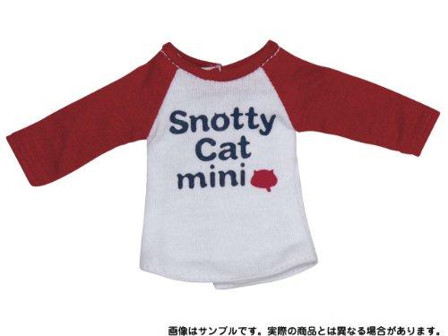 PN-XS Snotty cat mini ラグランTシャツ (レッド)