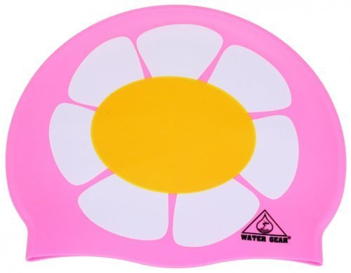Water Gear Flower Silicone Swim Cap