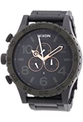 Nixon 51-30 Black Dial Stainless Steel Chrono Quartz Men's Watch A083-1530