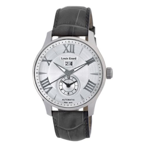 Louis Erard Men's 82222AA01.BDC51 1931 44mm Automatic GMT Grey Dial Rubber Date Watch