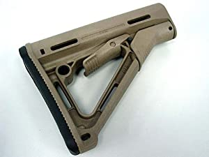 MAGPUL PTS AIRSOFT CTR Carbine Stock with Butt Pad Dark Earth for AEG