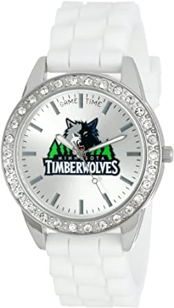 Game Time Ladies NBA-FRO-MIN Frost NBA Series Minnesota Timberwolves 3-Hand Analog... by Game Time